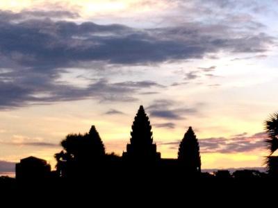Lever de soleil à Angkor Wat