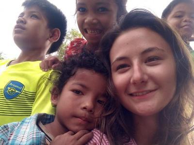 Sourires d'enfants à Domsom