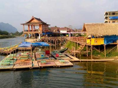 13 février : riverview bungalow à Vang Vien