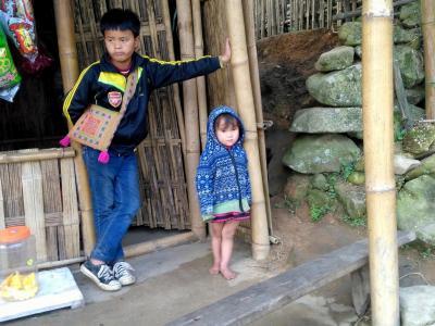 3 mars : trekking dans la région de Sapa, portrait d'enfants