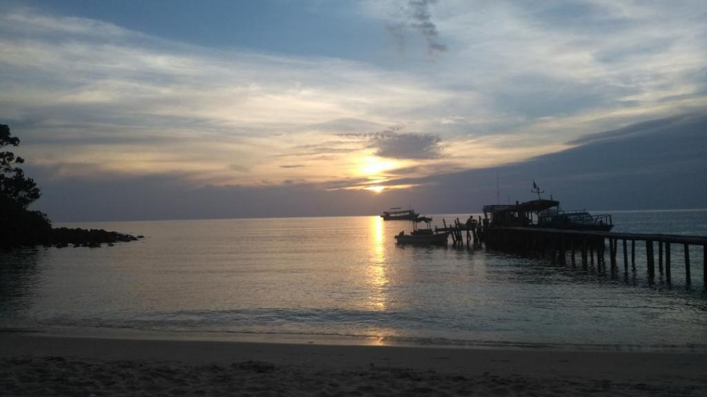 Coucher de soleil sur la Lazy Beach