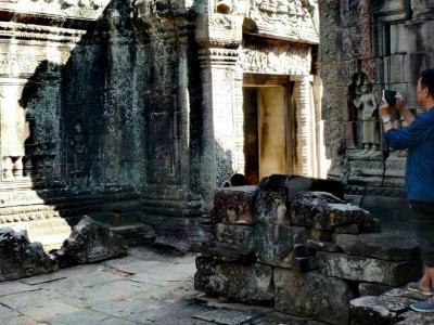 Angkor : touriste chinois