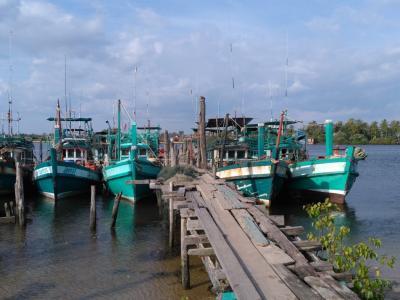 Village de pêcheur à Kampot : la jetée