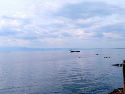 Kampot : magic Crab au bord de mer