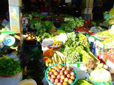 Marché central de Phnom Penh : légumes