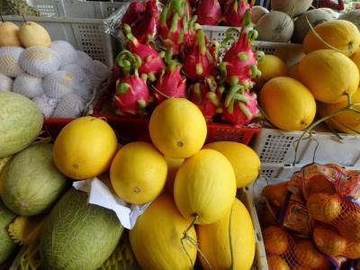 Les fruits sur le marché central de Phnom Penh