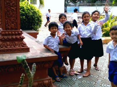 Portraits écoliers à Phom Penh