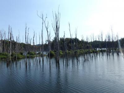 Traversée du Nam Gnouang Reservoir