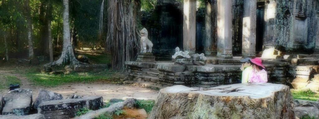 Portrait chinois à Angkor
