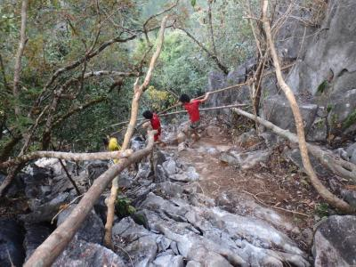 Escaliers d'accès à la silver cliff