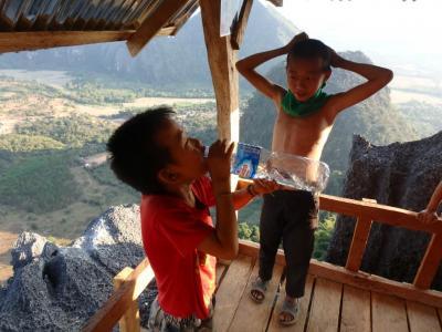 Sommet de la Silver Cliff (Laos)