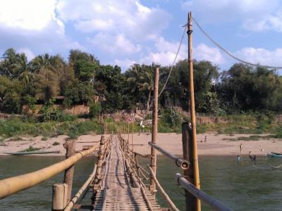 Pont amovible à Luang Prabang