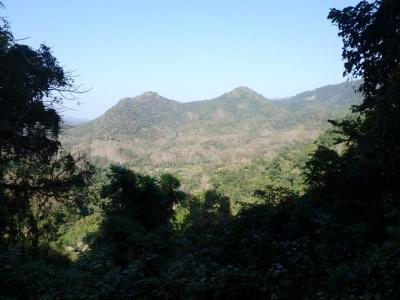 cascades de kuang si falls : vue du sommet