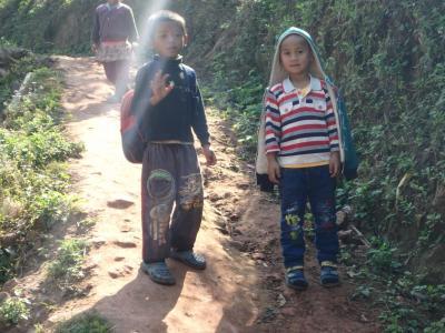 Village Akha : enfants