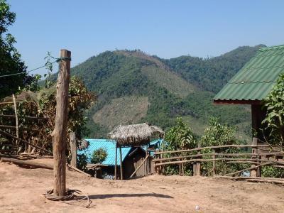 Village Akha : vue et chambre