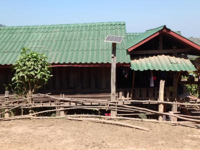 Village Akha : panneau solaire