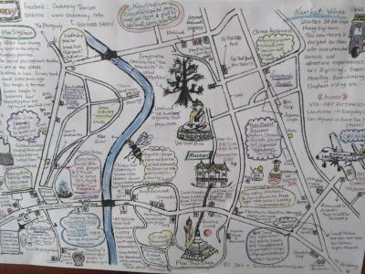 Plan illustré de la région d'Oudomxay