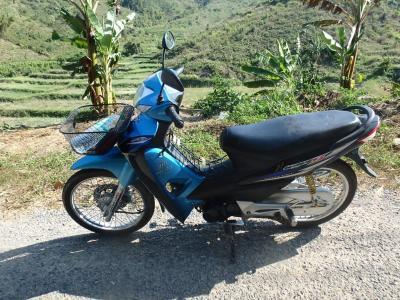 Mon scooter à Oudomxay