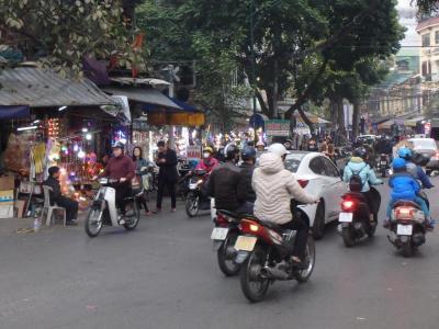 Scooter et moto à Hanoï