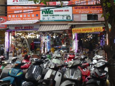 Scooter en stationnement