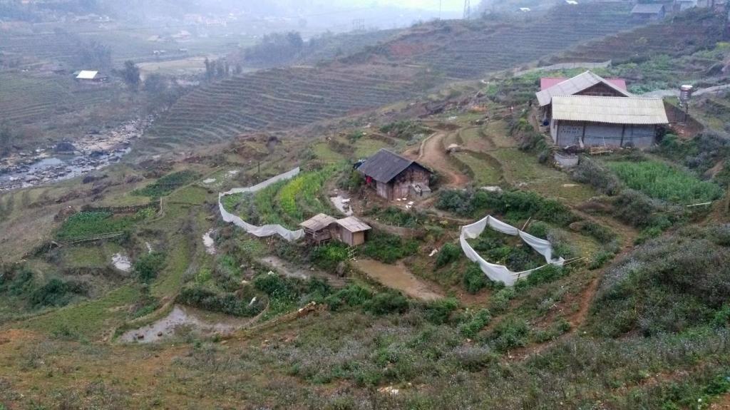 Trek dans la région de Sapa, vue depuis la maison de la maman de Mama Sa