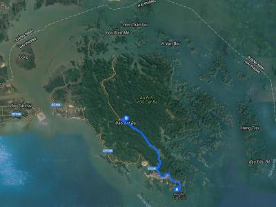 itineraire : cat ba - parc National de Cat Ba